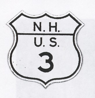 Historic shield for US 3 in New Hampshire