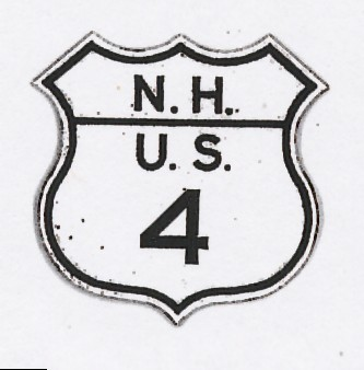 Historic shield for US 4 in New Hampshire