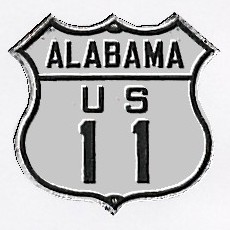 Historic shield for US 11 in Alabama
