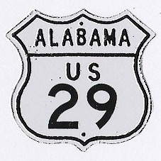 Historic shield for US 29 in Alabama