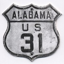 Historic shield for US 31 in Alabama