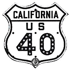 Historic shield for US 40 in California
