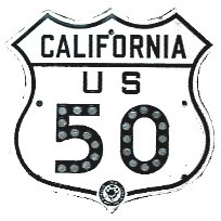Historic shield for US 50 in California