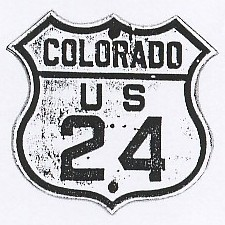 Historic shield for US 24 in Colorado