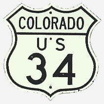 Historic shield for US 34 in Colorado