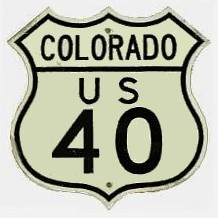 Historic shield for US 40 in Colorado