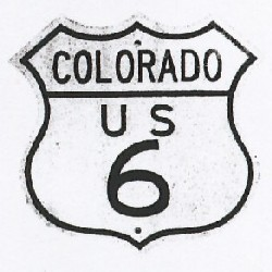 Historic shield for US 6 in Colorado