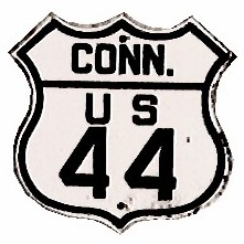 Historic shield for US 44 in Connecticut