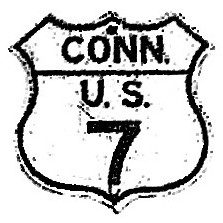 Historic shield for US 7 in Connecticut