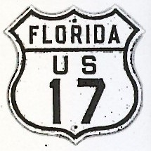 Historic shield for US 17 in Florida