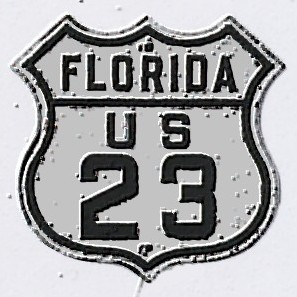 Historic shield for US 23 in Florida