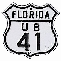 Historic shield for US 41 in Florida