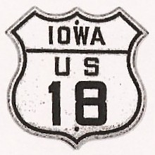 Historic shield for US 18 in Iowa