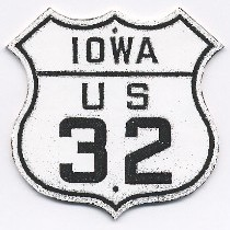 Historic shield for US 32 in Iowa