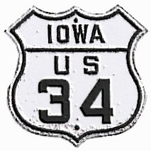 Historic shield for US 34 in Iowa