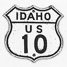 Historic shield for US 10 in Idaho