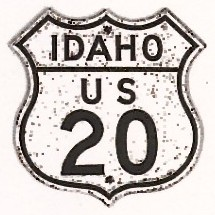 Historic shield for US 20 in Idaho