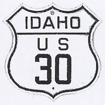 Historic shield for US 30 in Idaho
