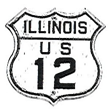 Historic shield for US 12 in Illinois