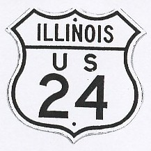Historic shield for US 24 in Illinois