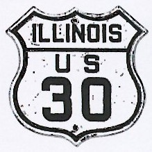 Historic shield for US 30 in Illinois