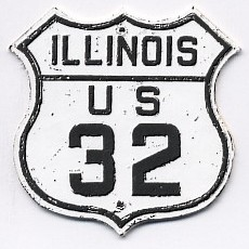Historic shield for US 32 in Illinois