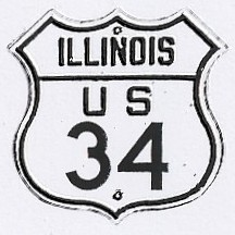 Historic shield for US 34 in Illinois