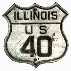 Historic shield for US 40 in Illinois