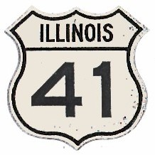 Historic shield for US 41 in Illinois