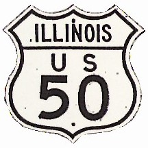 Historic shield for US 50 in Illinois