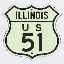 Historic shield for US 51 in Illinois