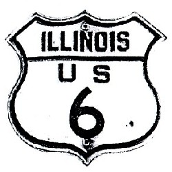 Historic shield for US 6 in Illinois
