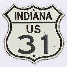 Historic shield for US 31 in Indiana