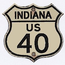 Historic shield for US 40 in Indiana