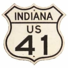 Historic shield for US 41 in Indiana
