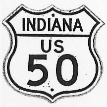 Historic shield for US 50 in Indiana