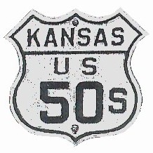 Historic shield for US 50S in Kansas
