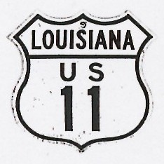 Historic shield for US 11 in Louisiana