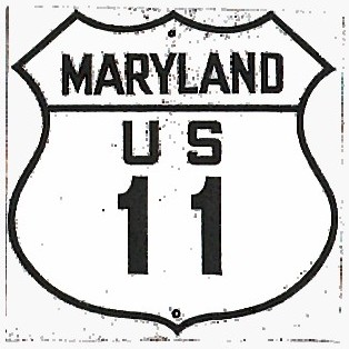 Historic shield for US 11 in Maryland