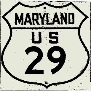 Historic shield for US 29 in Maryland