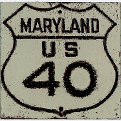 Historic shield for US 40 in Maryland