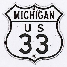 Historic shield for US 33 in Michigan