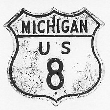 Historic shield for US 8 in Michigan