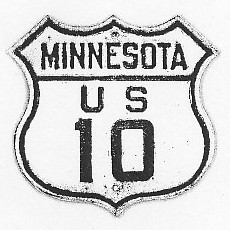 Historic shield for US 10 in Minnesota