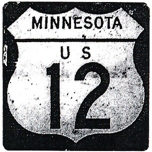 Historic shield for US 12 in Minnesota