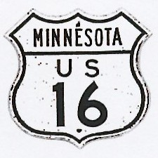 Historic shield for US 16 in Minnesota
