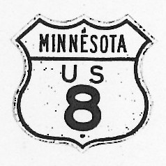 Historic shield for US 8 in Minnesota