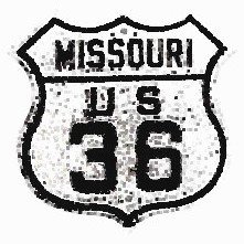 Historic shield for US 36 in Missouri