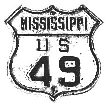Historic shield for US 49 in Mississippi