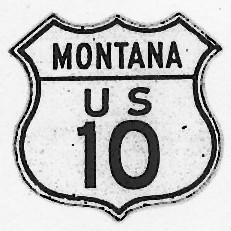 Historic shield for US 10 in Montana
